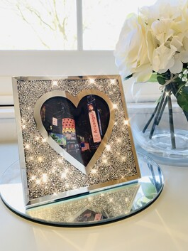 "Crystal Glitz Heart Frame 6x6"""